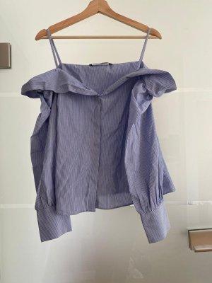 Hemd in blau und weiss