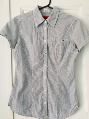 QS by s.Oliver Short Sleeve Shirt white-slate-gray cotton