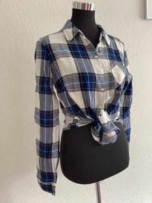 Blue Motion Flannel Shirt white-blue