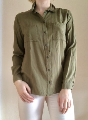H&M Colletto camicia grigio-verde