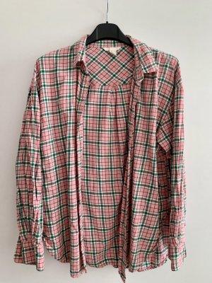 Hemd in rosa/grün