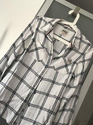 Hemd in schwarz-weiß kariert von Superdry