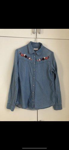 Hemd, Jeans, Damen, H&M, blau, Gr. 38