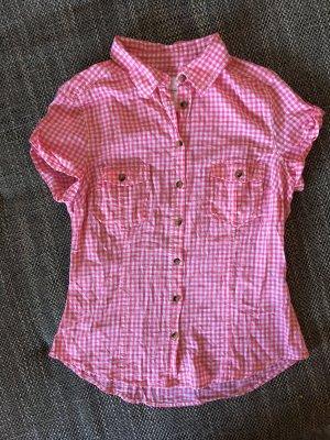 H&M Camisa de manga corta blanco-rosa