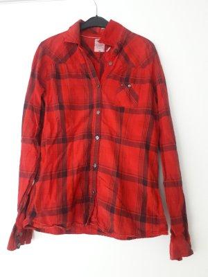 Tommy Hilfiger Denim Camicia blusa nero-rosso