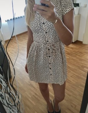 Ann Christine Shortsleeve Dress cream-black