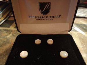 Frederick Theak Boucles d'oreille en or blanc cassé