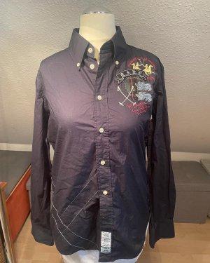 La Martina Long Sleeve Shirt dark blue