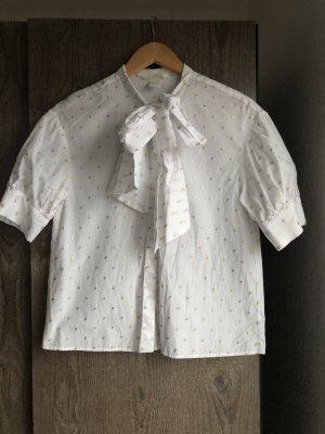 H&M Basic Camicia a maniche corte bianco-oro