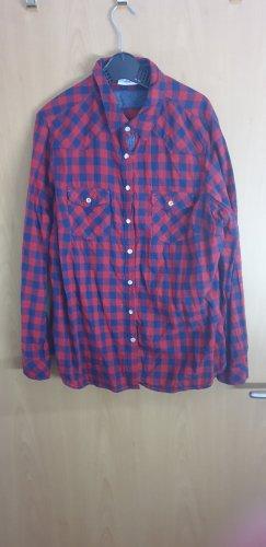 C&A Yessica Camicia da boscaiolo rosso-blu