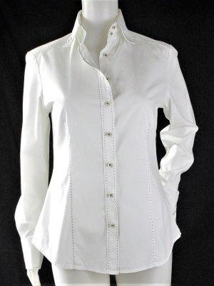 Hemd mit Kontrastnähte in hellbraun/Weiß/100%Baumwolle/HERVORRAGEND!