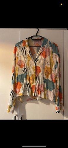 Hemd mit Muster Tiermuster bunt Zara