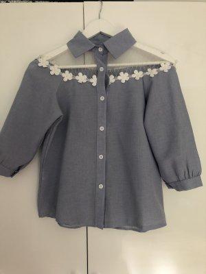 Shirt met korte mouwen azuur