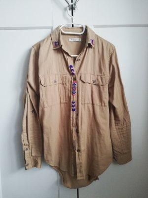Colins Long Sleeve Shirt camel-blue