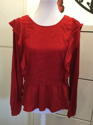 Hemd mit Volants in rot von Zara