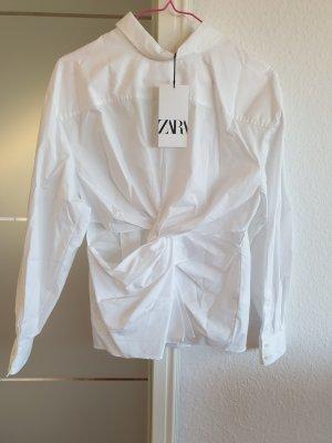 Hemd mit Zierknoten von Zara Neu, mit Etikett