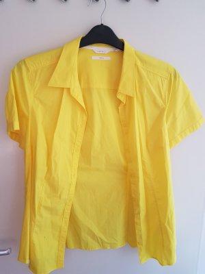 Esprit Chemise à manches courtes jaune primevère coton
