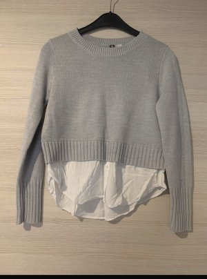 H&M Jersey Twin-Set gris claro-blanco