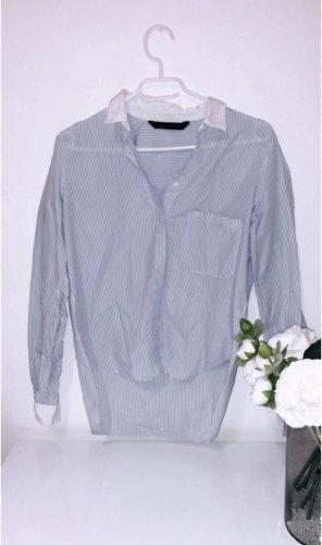 Hemd oberteil bluse shirt blau weiß gestreift office