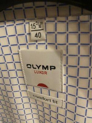Olymp Camisa de manga corta multicolor tejido mezclado