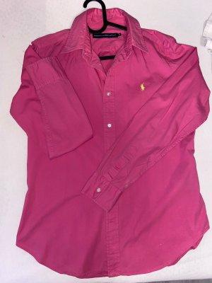 Polo Ralph Lauren Camisa de manga larga rojo frambuesa-magenta