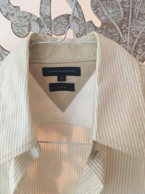 Tommy Hilfiger Chemise à manches longues crème-blanc coton