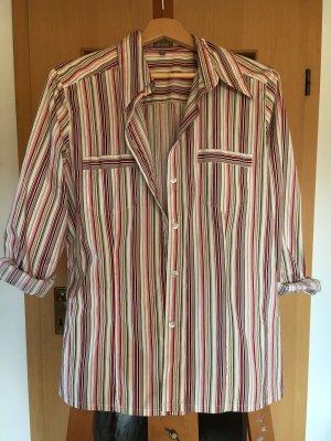 Hemd True Vintage Gestreift Rot Weiß Beige
