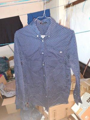 Apart Camisa de manga larga azul-blanco