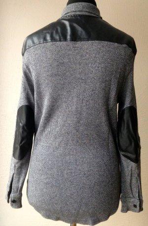 Ashley Brooke Chemise à manches longues noir-gris clair coton