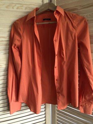 Shirt met lange mouwen donker oranje-oranje