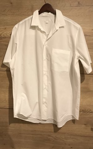 COS Camisa de manga corta blanco-blanco puro