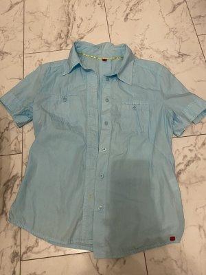 Esprit Short Sleeve Shirt baby blue