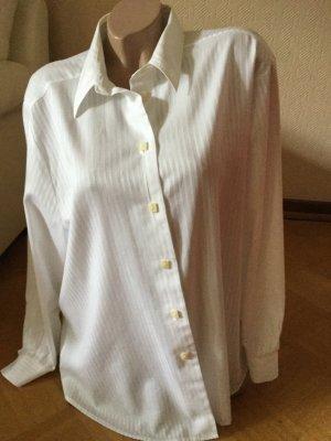 Eterna Shirt met lange mouwen wit Katoen