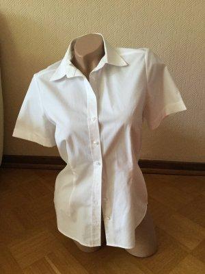 Eterna Shirt met korte mouwen wit Katoen