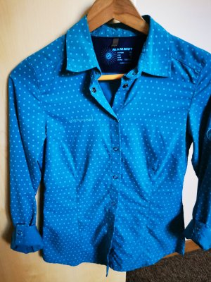 Mammut Long Sleeve Shirt neon blue cotton