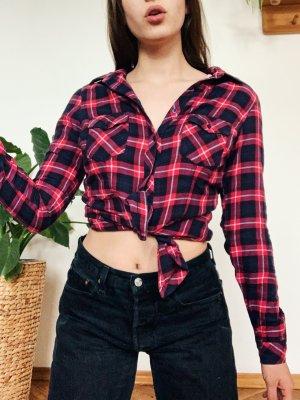 Tally Weijl Camicia di flanella rosso lampone-blu scuro