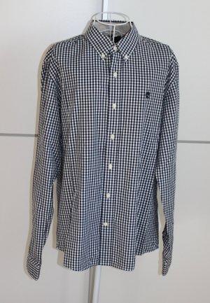 Timberland Chemise à manches longues blanc-bleu foncé