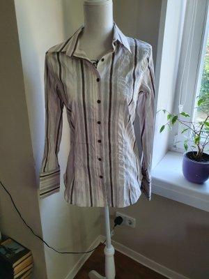 Zara Basic Camicia a maniche lunghe marrone-beige chiaro Cotone