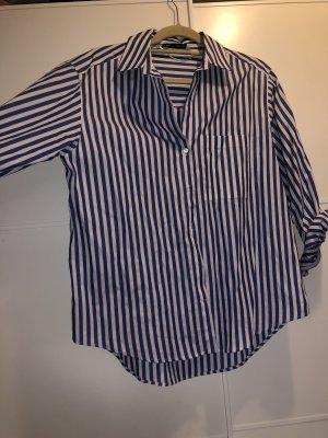 Zara Cols de blouses blanc-bleu