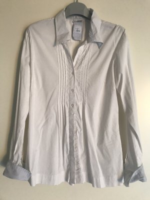 Street One Camicia blusa bianco-blu fiordaliso Cotone