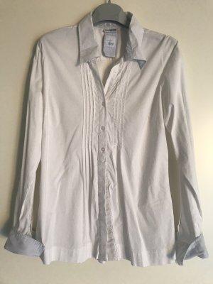 Street One Shirt Blouse white-cornflower blue cotton