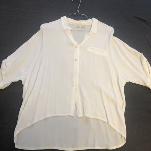 Anna Justper Long Sleeve Blouse white