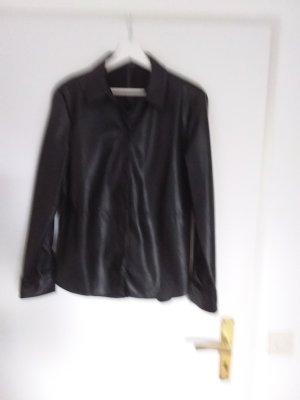Camisa de cuero negro