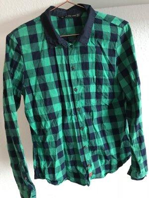 Hemd Zara blau/grün kariert, Größe M
