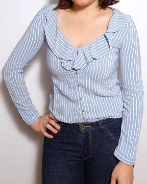 Hemd Zara Streifenhemd Rüschen
