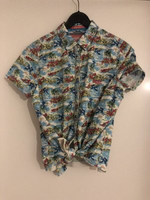 SUPER DRY Hawaiian Shirt light blue