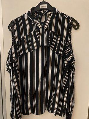 C&A Clockhouse Koszulowa bluzka czarny-biały