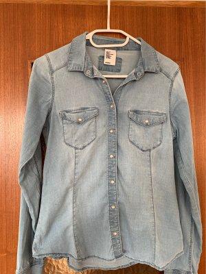 H&M Blouse en jean bleu clair-bleu pâle
