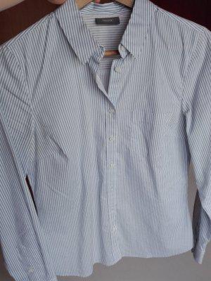 Hemdbluse blau-weiß gestreift