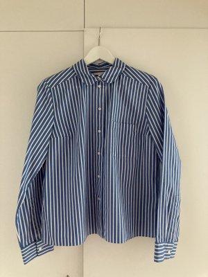COS Shirt Blouse blue-white